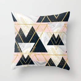Elegant geometric and confetti golden design Throw Pillow