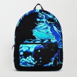 lionfish vector art blue Backpack