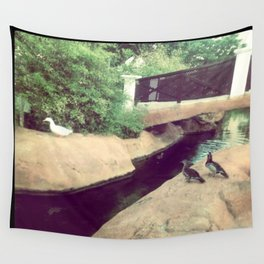 Where do the ducks go in the winter? Wall Tapestry