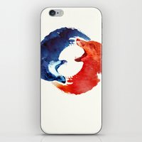 christ iPhone & iPod Skins featuring Ying yang by Robert Farkas