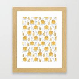 Cute vector pancake day breakfast illustration Framed Art Print