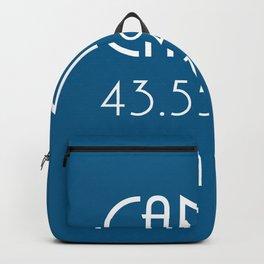 Cannes Latitude Longitude Backpack