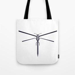 DRAGONFLY B/W Tote Bag