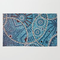 mosaic Area & Throw Rugs featuring mosaic by shannonblue