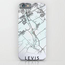 Levis, QC, Canada, White, City, Map iPhone Case