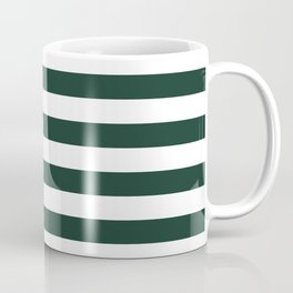 Forest Green Horizontal Stripes Coffee Mug