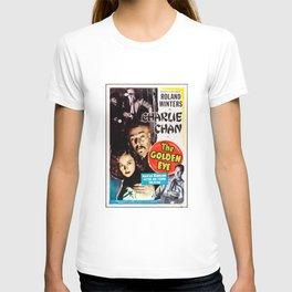 Charlie Chan in The Golden Eye (1948) - Vintage Film Poster T-shirt