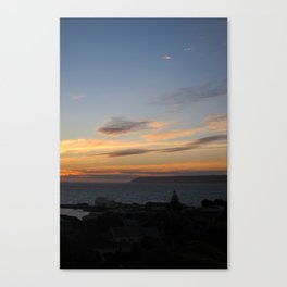 Sunset over Mana Island New Zealand Canvas Print