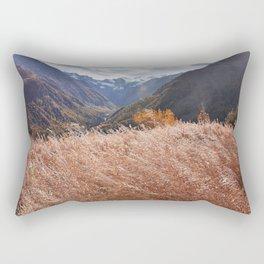 Gold autumn landscape in mountain Rectangular Pillow