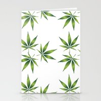 marijuana Stationery Cards featuring Marijuana Leaves  by Limitless Design