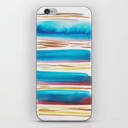 10   |181026 Lines & Color Block | Watercolor Abstract | Modern Watercolor Art iPhone Skin