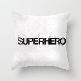 Superhero - gray wallpapers Throw Pillow