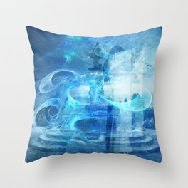 BETWEEN THE PLANES IN TIME TRAVEL Throw Pillow