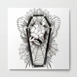 Graven Rose Metal Print