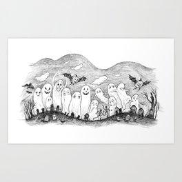 Halloween Ghosts Art Print