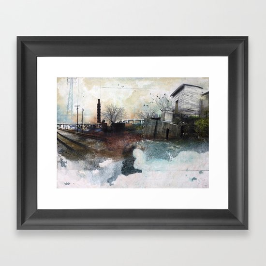 In A Fog Framed Art Print