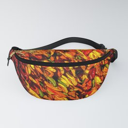 Ristras made from green, yellow, orange and red chile peppers Fanny Pack