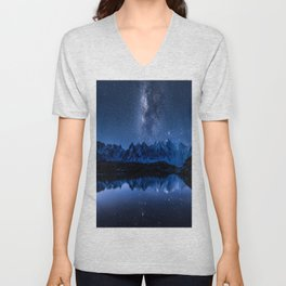 Night mountains Unisex V-Neck
