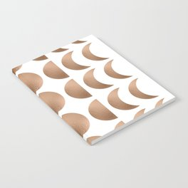 Rose Gold Moon Phase Pattern Notebook