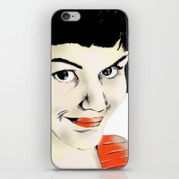 amelie iPhone & iPod Skins featuring Amelie by Bubble Trump Ltd