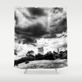Storm Over The Castle Shower Curtain