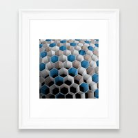 honeycomb Framed Art Prints featuring Honeycomb by amanvel