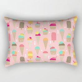 Ice Cream summer fresh food vacation heatwave city life pattern print geometric triangle design Rectangular Pillow