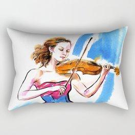 Girl playing the violin Rectangular Pillow