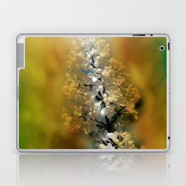 white lilac on textured background -b- Laptop & iPad Skin