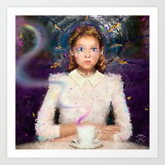 a tea with Alice Art Print