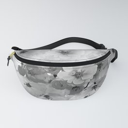 CHERRY BLOSSOMS IN BLACK AND WHITE Fanny Pack