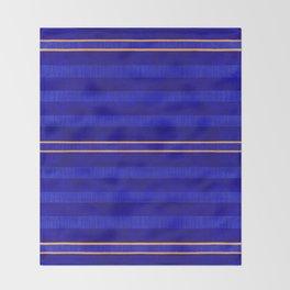 N241 - Navy Deep Calm Blue Velvet Texture Moroccan Style  Throw Blanket