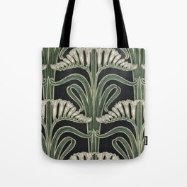 Art Nouveau Botanical Tote Bag