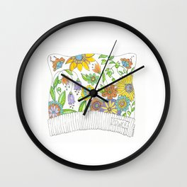 All THAT Pussy Cat Hat Wall Clock