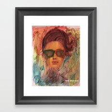 Looking for the summer Framed Art Print