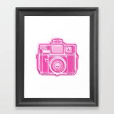 I Still Shoot Film Holga Logo - Pink Framed Art Print