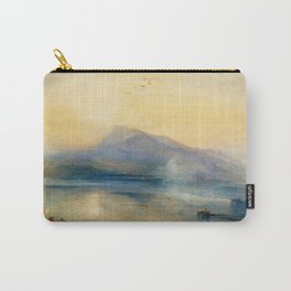 """J.M.W. Turner """"The Dark Rigi, the Lake of Lucerne, Showing the Rigi at Sunrise"""" Carry-All Pouch"""