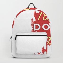 Campfire hair saying Backpack