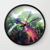 dinosaur Wall Clocks featuring Dinosaur by cafelab