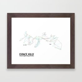 Espace Killy, Savoie, FRA - NA Edition (Labeled) - Minimalist Trail Art Framed Art Print