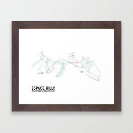 Espace Killy, Savoie, FRA - NA Edition (Labeled) - Minimalist Trail Art Framed Art Print