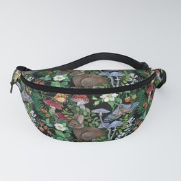 Rabbit and Strawberry Garden Fanny Pack