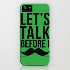Let's Talk Moustache iPhone (5, 5s) Slim Case
