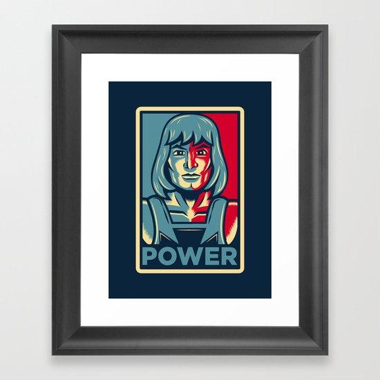 Power....he has it! Framed Art Print