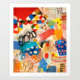 Wallpaper and Diamonds Part I Art Print