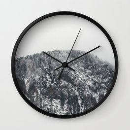 Snowy Mountain - Forest Adventure Begins Wall Clock