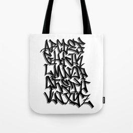 Alphabet Graffiti Calligraphy Tote Bag