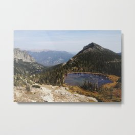 Rocky Mountain Lakes Metal Print