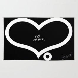 Love. (Black)  Rug