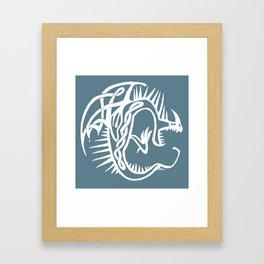 Celtic Knotwork Deadly Nadder (White) Framed Art Print
